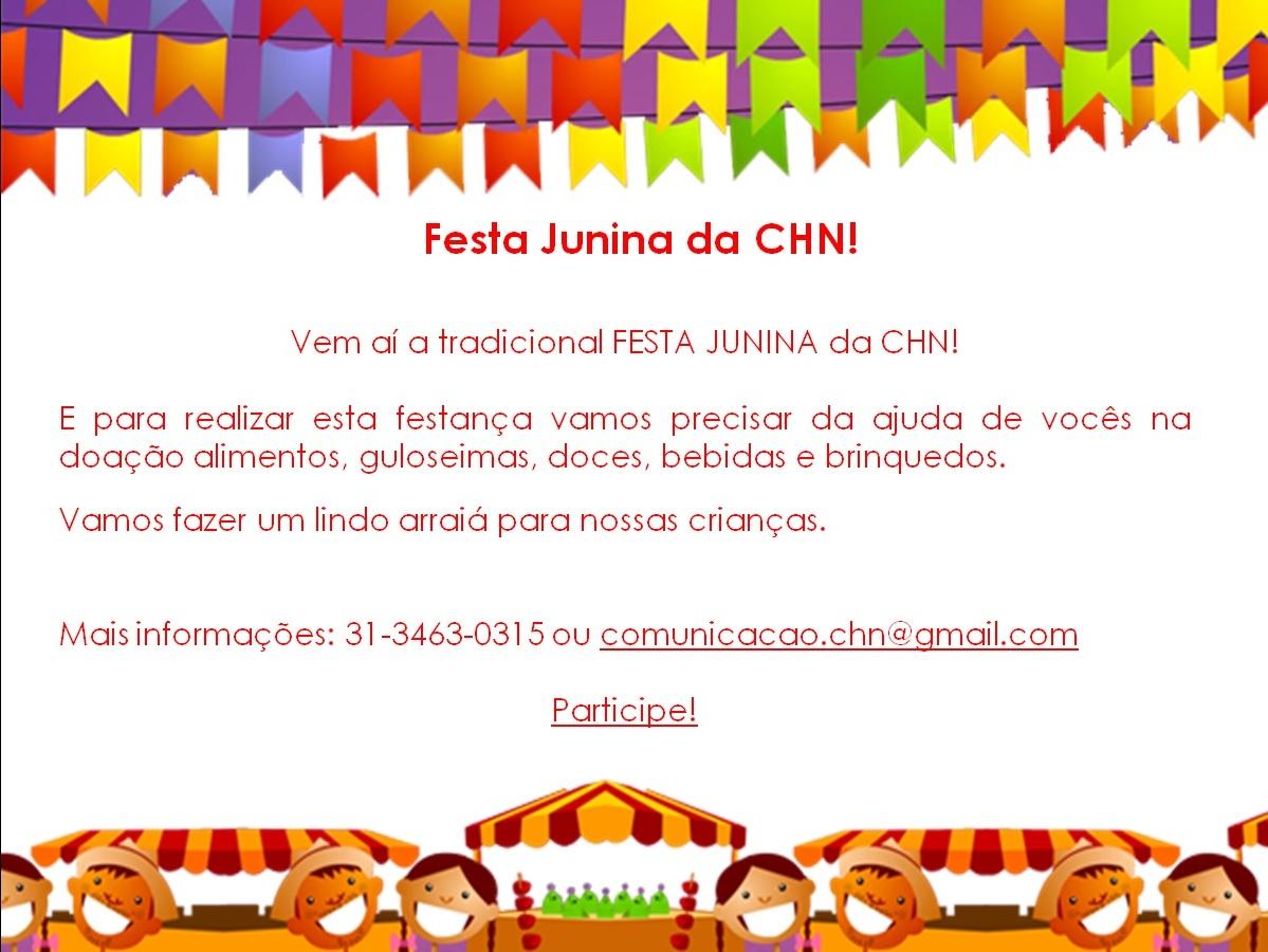 Divulgação Festa Junina